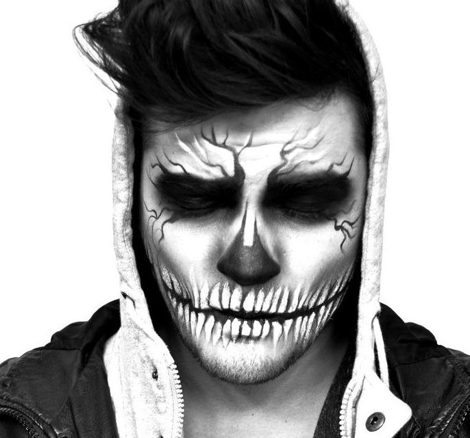 мужской грим для хэллоуина