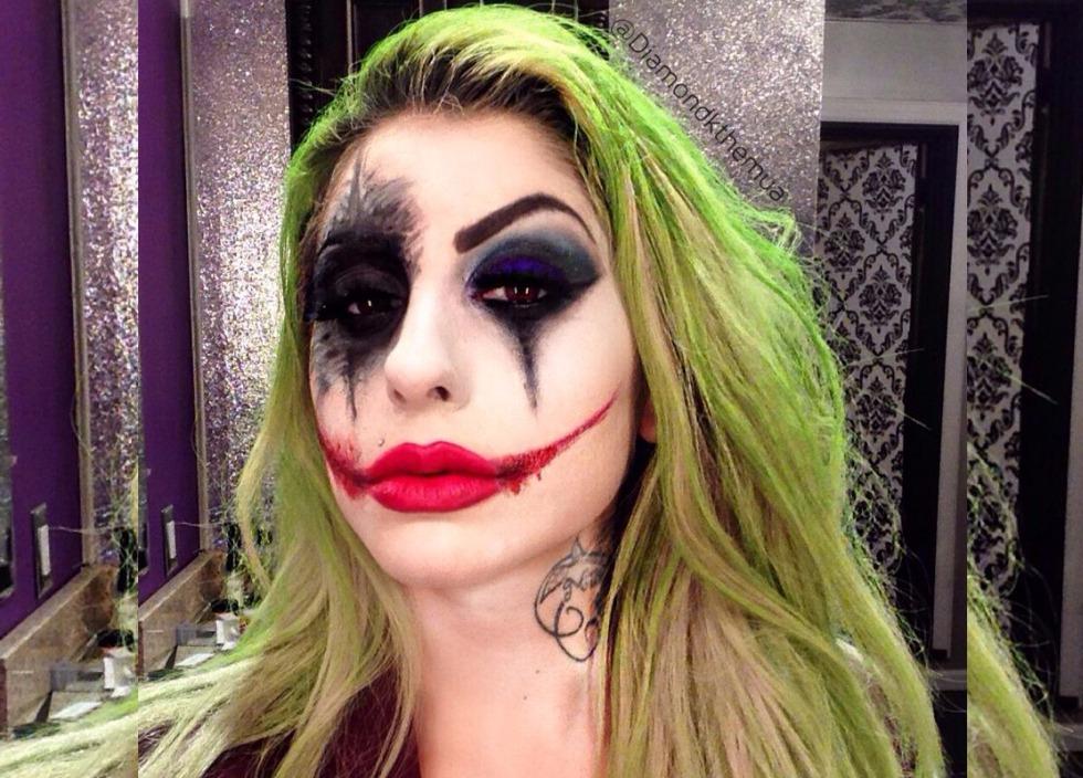 макияж джокера на хэллоуин