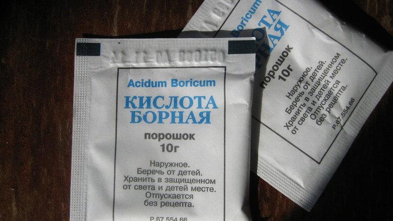 Борная кислота при отите - лечение и инструкция
