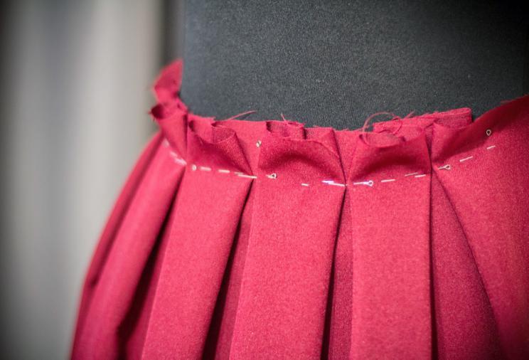 юбка с бантовыми складками