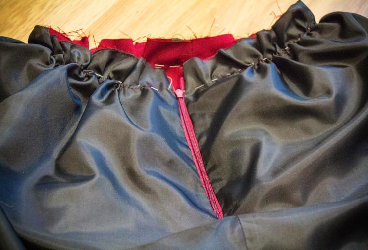 бантовые складки на юбке расчет