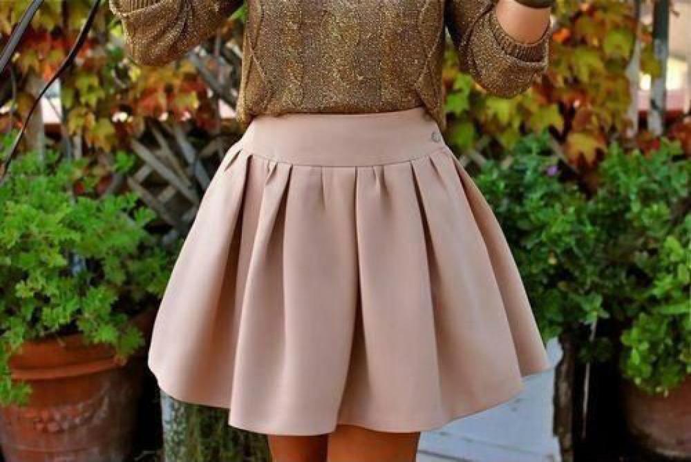 сшить юбку с бантовыми складками