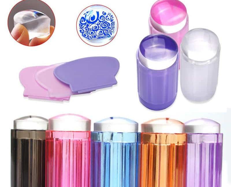 Купить Прозрачный силиконовый штамп и скрапер для стемпинга ногтей ...