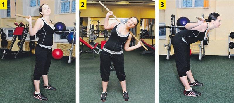 гимнастика с палкой при остеохондрозе