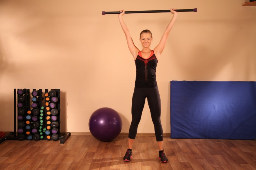 упражнения с гимнастической палкой (главный ключ)