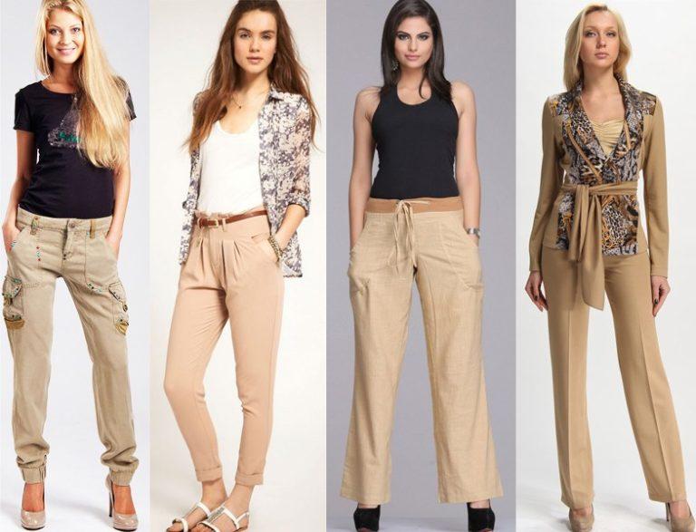 бежевые брюки с чем носить (главный ключ)