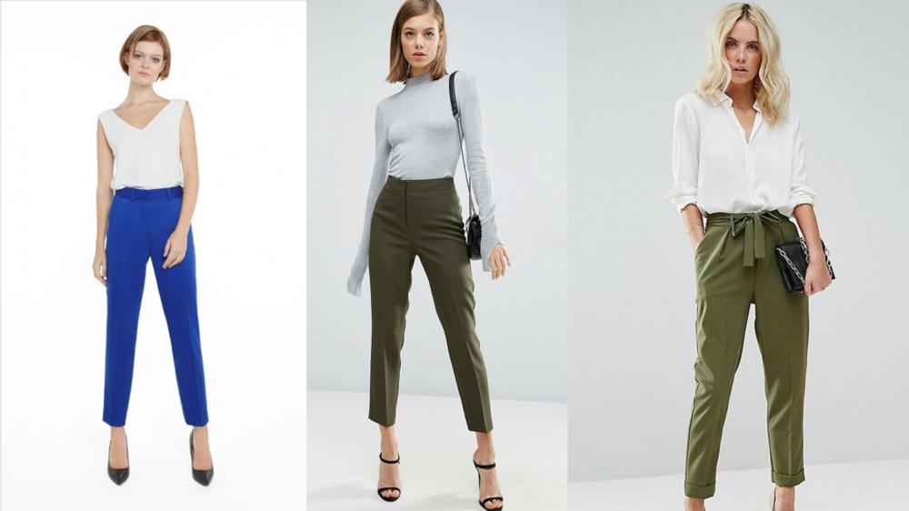 женские брюки с высокой талией