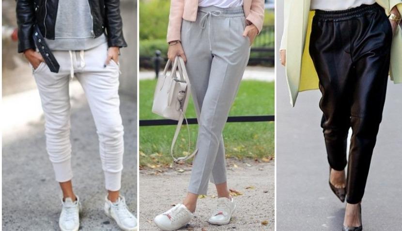 Женские брюки-джоггеры: с чем носить 60 фото-образов 2018