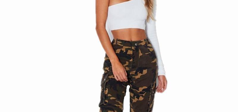 2018 High Waist Camouflage Loose Joggers Women Camo Pants Streetwear ...