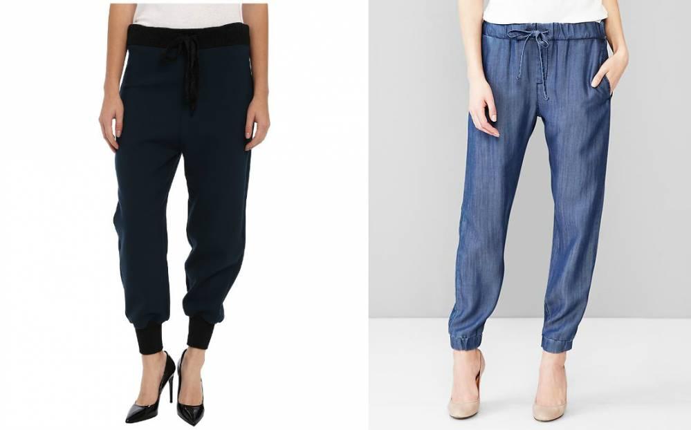 Женские брюки-джоггеры