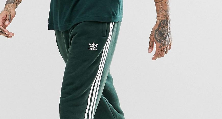 Зеленые джоггеры с 3 полосками adidas Originals adicolor CX1898 at ...