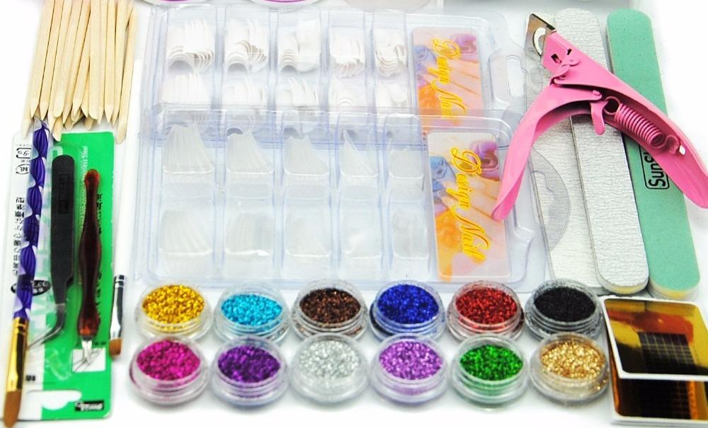 Купить Набор акриловых ногтей инструменты для маникюра 12 Цвет сухие ...