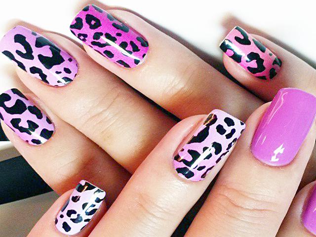 ногти дизайн леопард