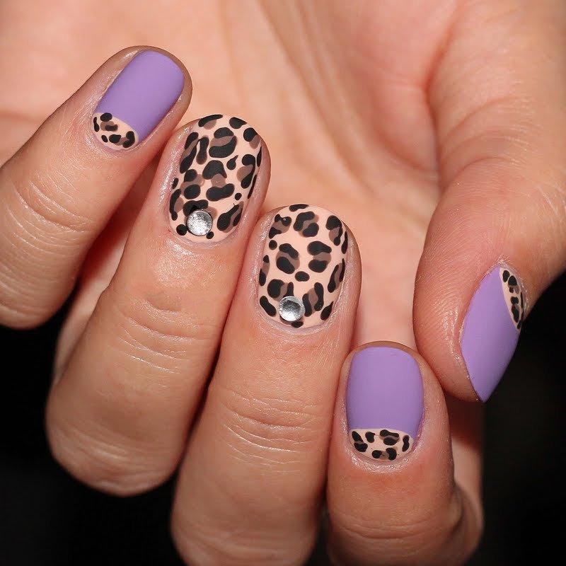 Леопардовый маникюр (37 фото): дизайн ногтей с леопардовым принтом ...