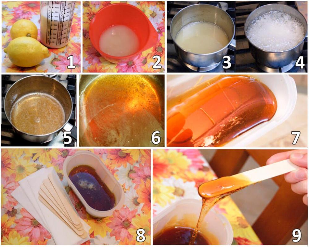 шугаринг в домашних условиях рецепт приготовления