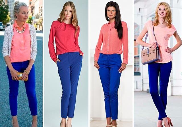 что одеть с синими брюками