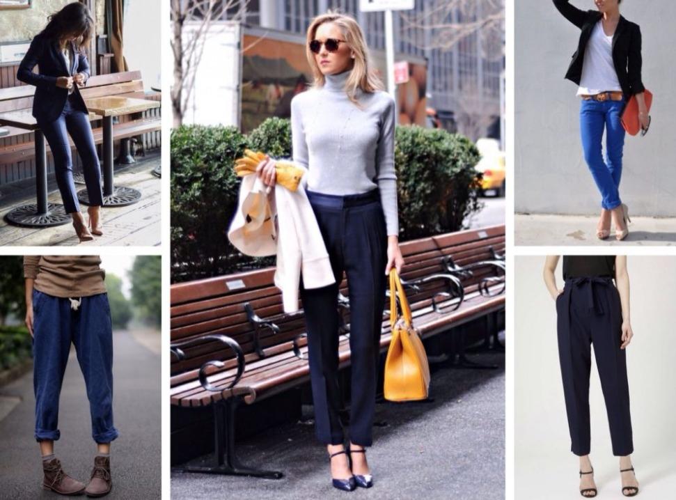 С чем носить синие брюки: советы для женщин и мужчин