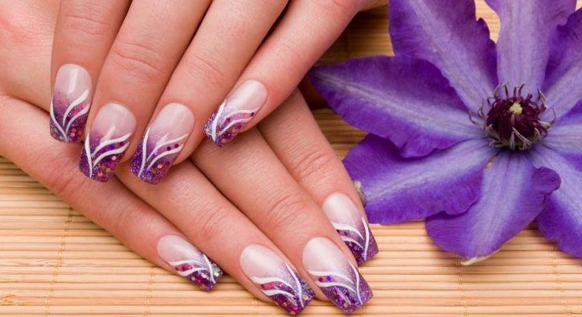 дизайн акриловыми красками на ногтях (главный ключ)