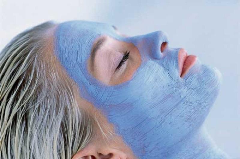 Голубая глина для лица