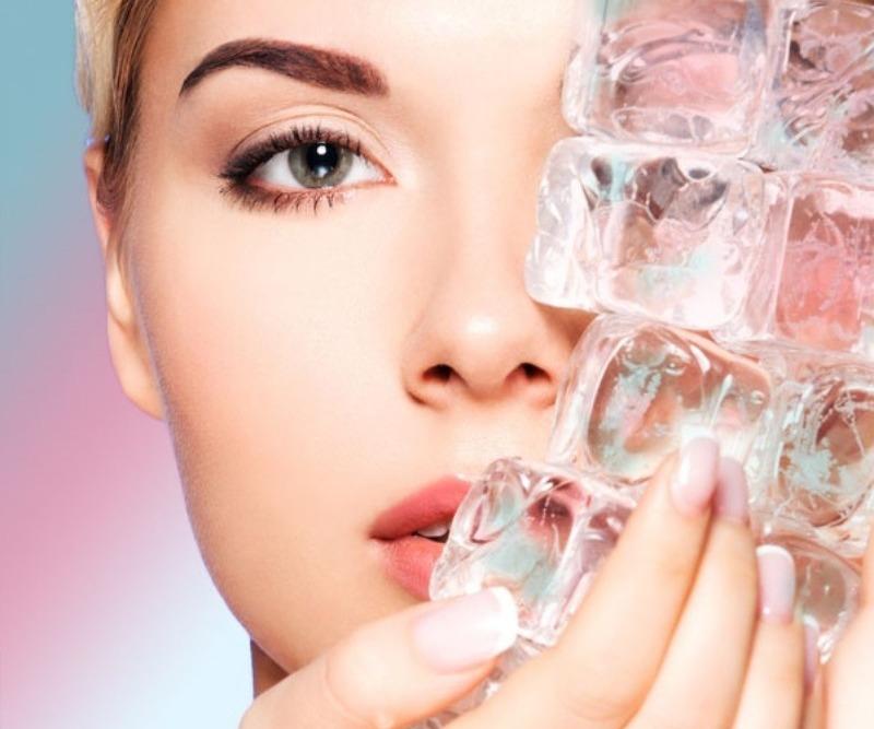 Лед для лица: польза и вред. Свойства льда для кожи. польза и ...