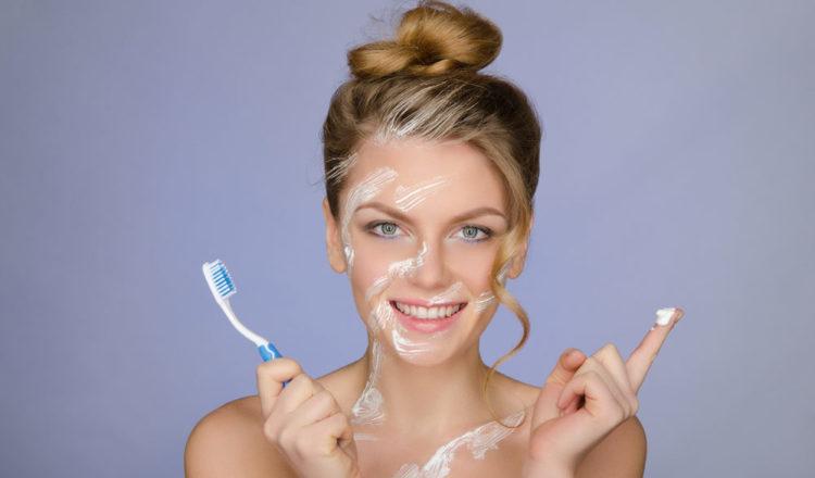зубная паста от прыщей на лице