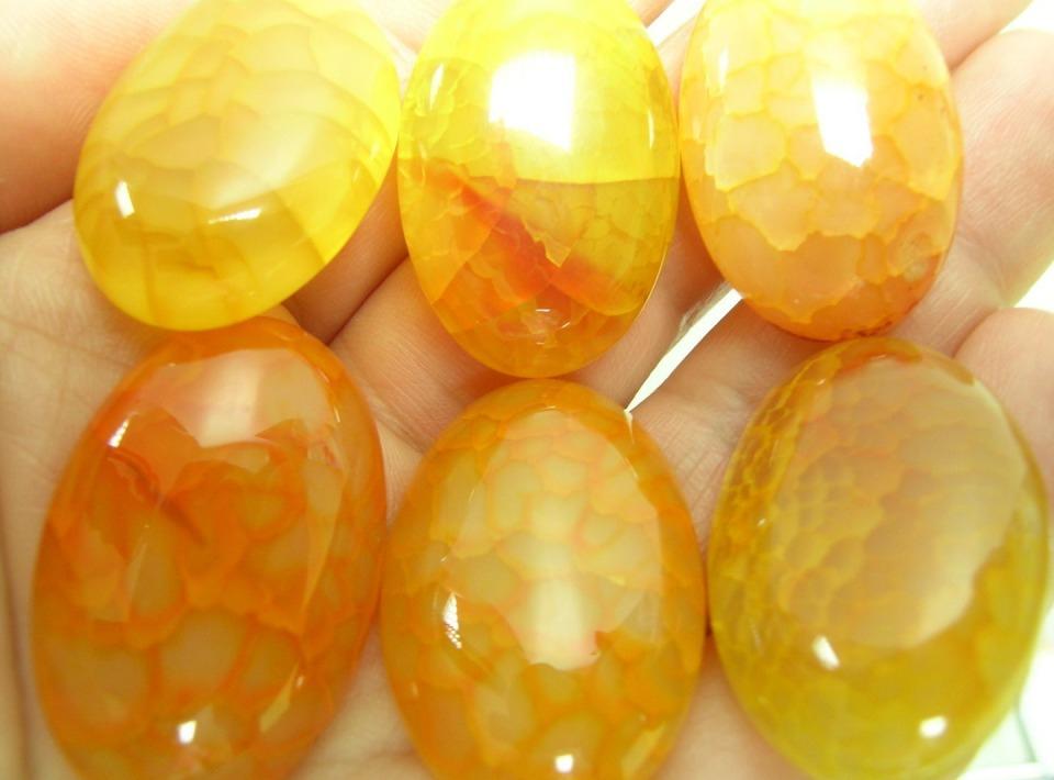 Кабошон желтый, оранжевый. Агат. 30x20мм – купить в интернет ...