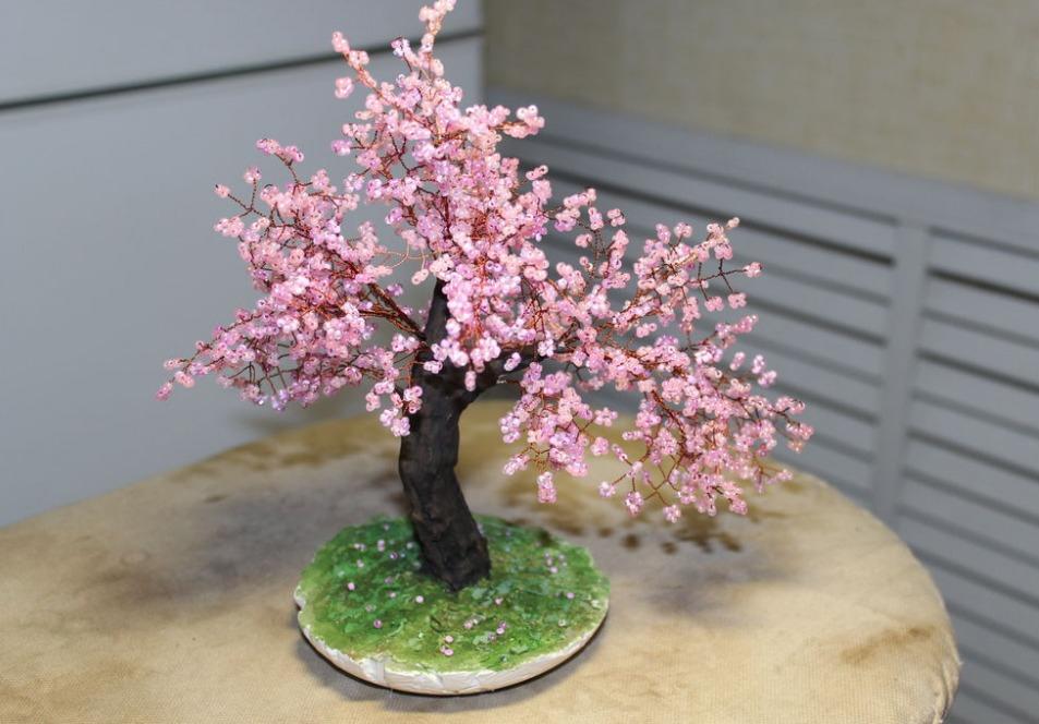 Дерево из бисера. Сакура – купить в интернет-магазине на Ярмарке ...