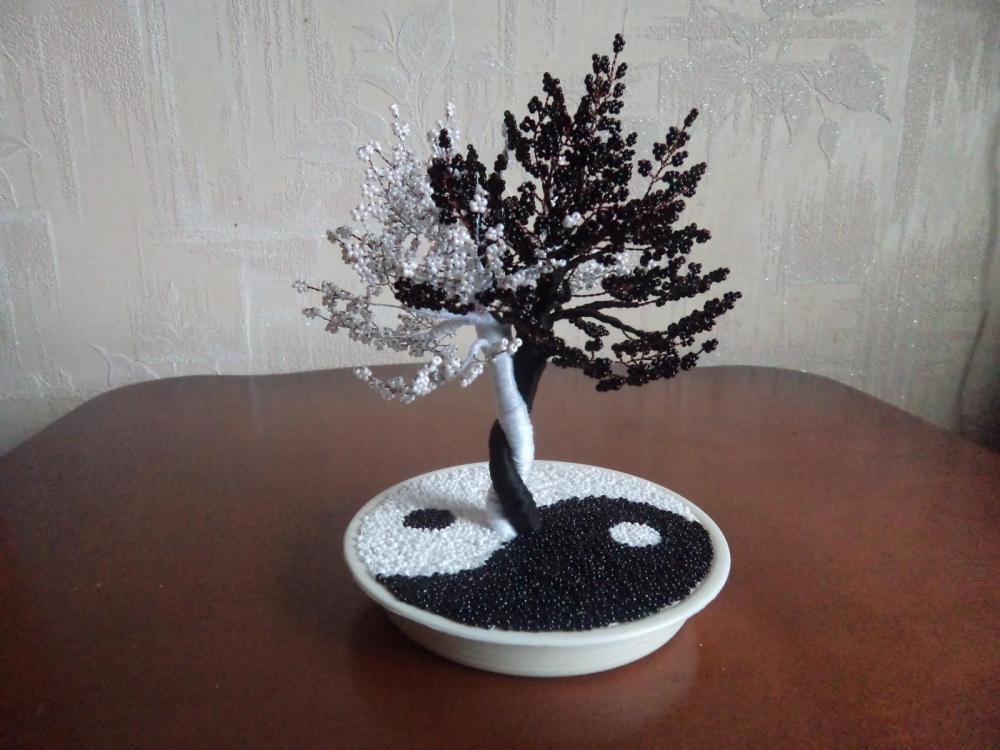 Инь янь из бисера дерево: мастер-класс с фото и видео