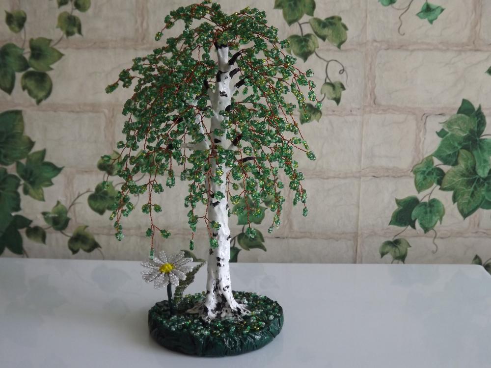 Мое первое бисерное дерево Береза - запись пользователя ...