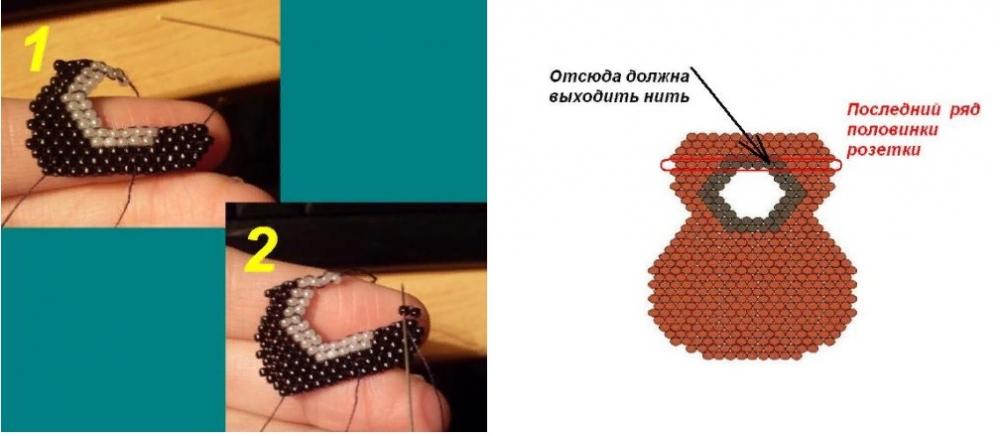 брелки из бисера схемы плетения для начинающих