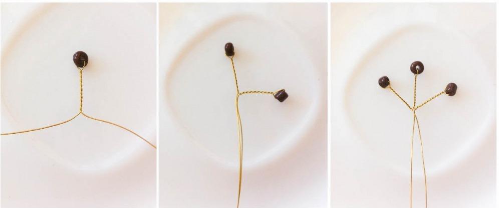 Цветок из рубки «Кофейное настроение» Цветы из бисера – Бисерок