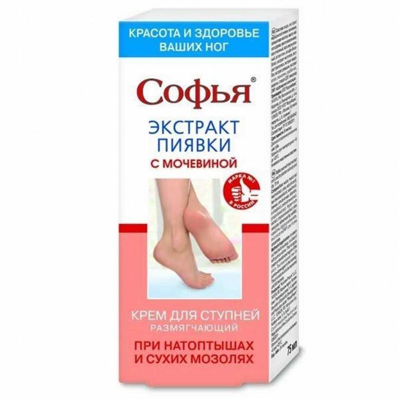 Купить Софья крем для ступней ног с экстрактом пиявки и мочевины в ...