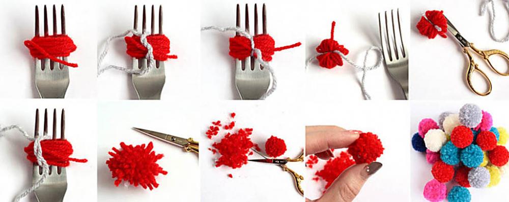 как сделать помпон из пряжи (главный ключ)