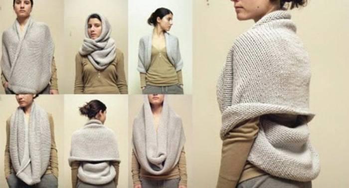 связать шарф хомут спицами схема вязания