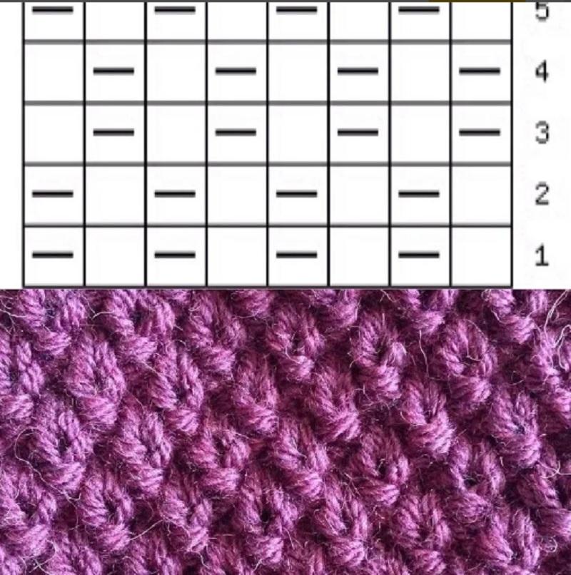 вязаный шарф хомут спицами схема вязания