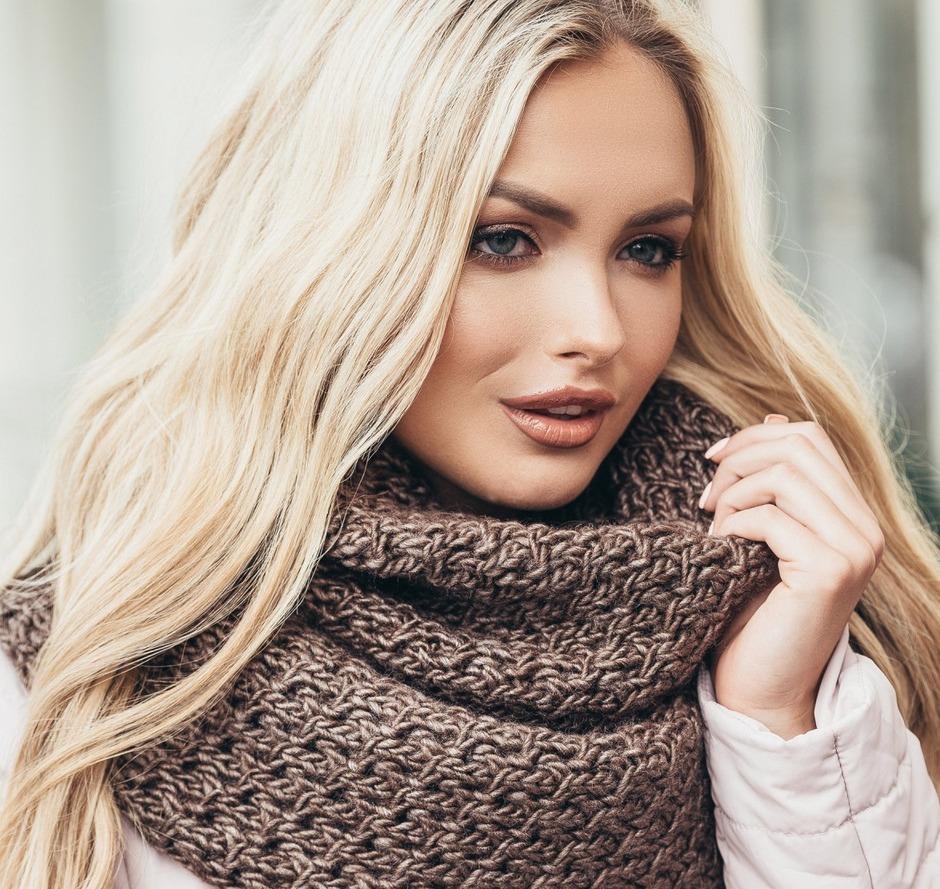 как связать шарф хомут спицами (главный ключ)