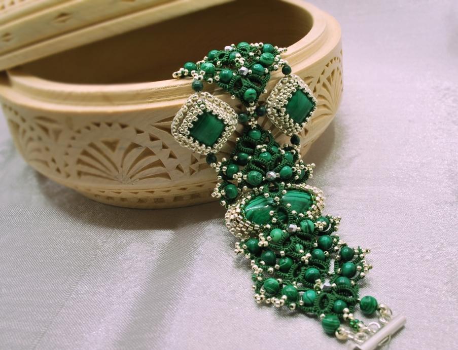 Малахитовый браслет (44 фото): на какой руке носят модели из ...