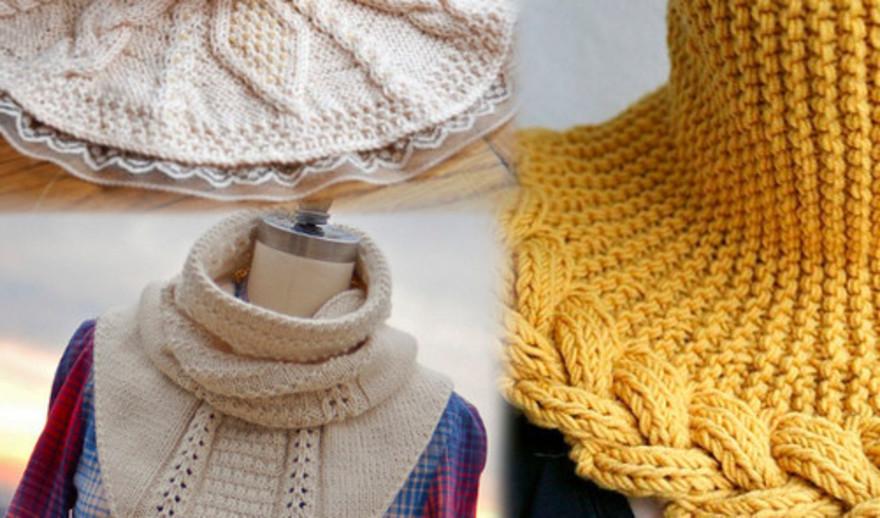 вязание манишек спицами для женщин со схемами