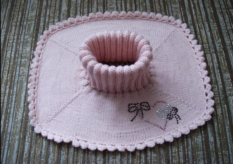вязание спицами манишки для женщин с описанием