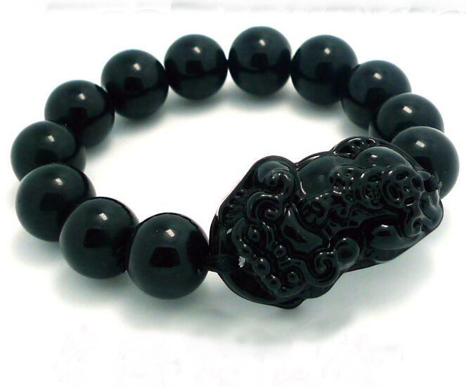 Замечательный игла черный нефрит бусины из бисера Дракон Pixiu ...
