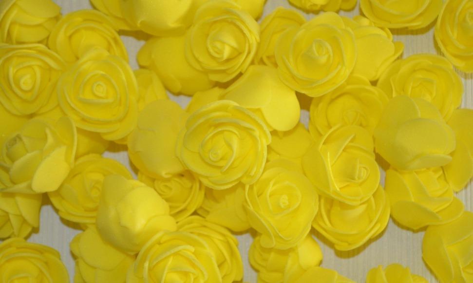 Роза желтая из фоамирана 3см купить в Минске - Selentochki.by