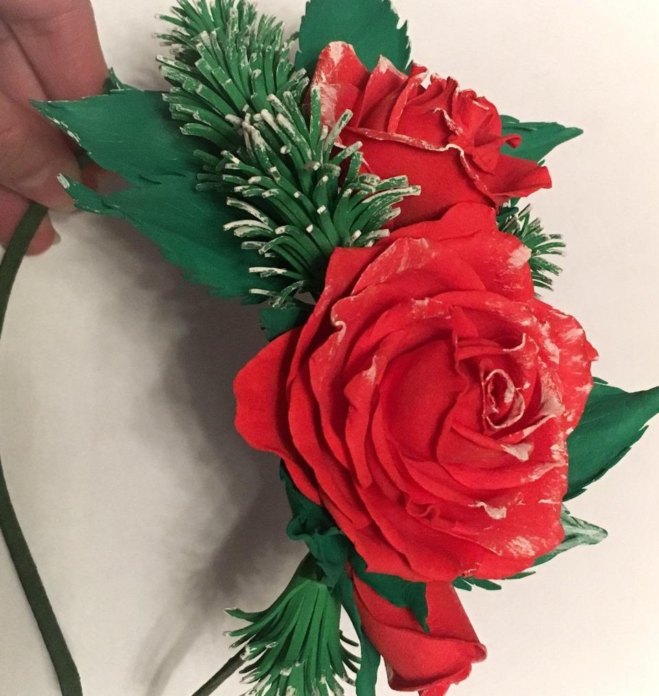 Ободок для волос розы из фоамирана - объявления : Правда Гомель
