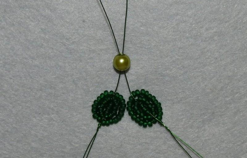орхидеи из бисера схемы плетения мастер класс