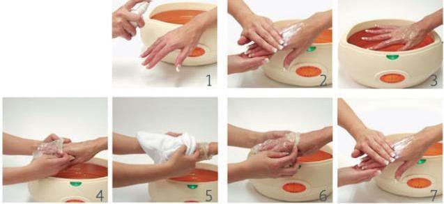 делать парафиновые ванночки для рук
