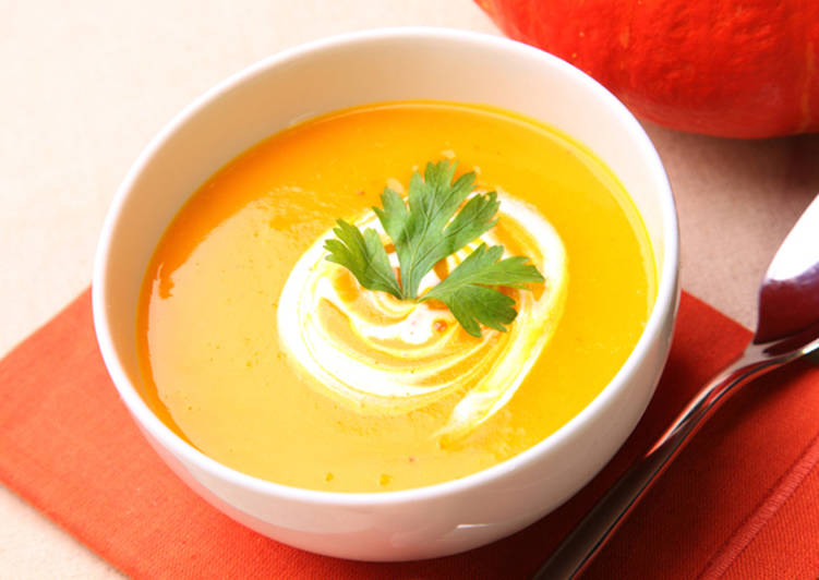 Тыквенный суп-пюре очень полезный и вкусный Автор рецепта Сергей ...