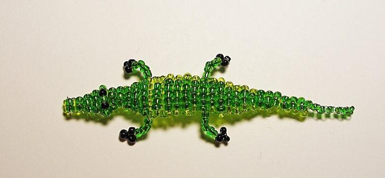 Крокодил из бисера: схема плетения для начинающих