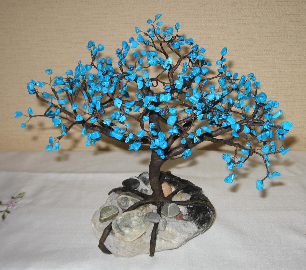 Деревья из бисера и других материалов
