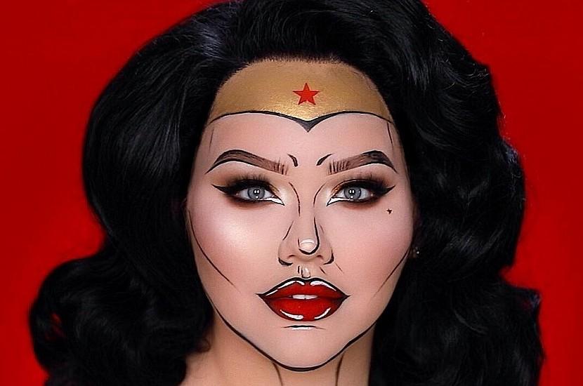 Образ на Хэллоуин самостоятельно: макияж Чудо-женщины в стиле поп ...