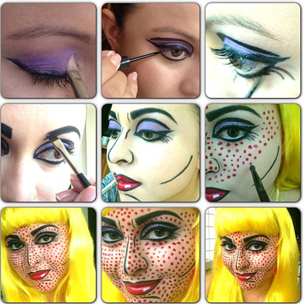 макияж в стиле поп арт