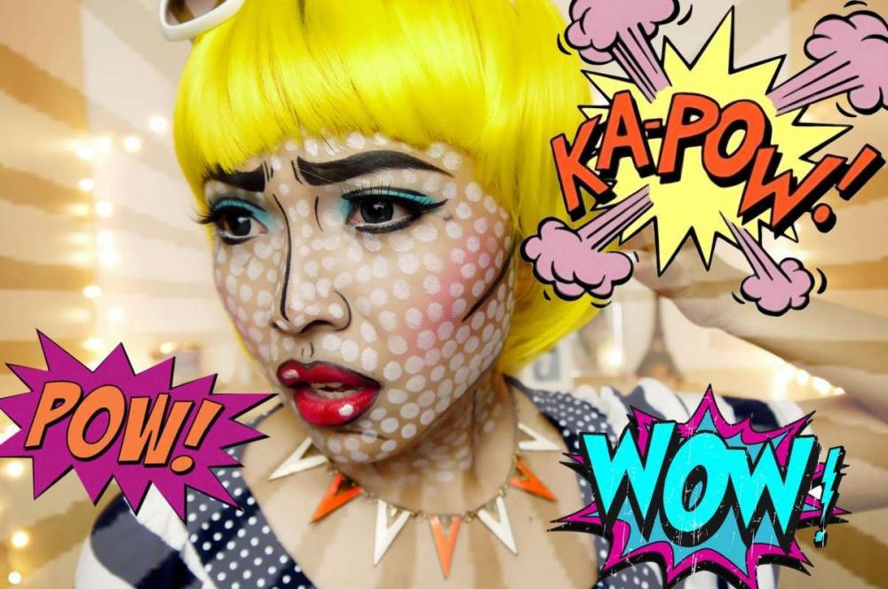 макияж в стиле комиксов